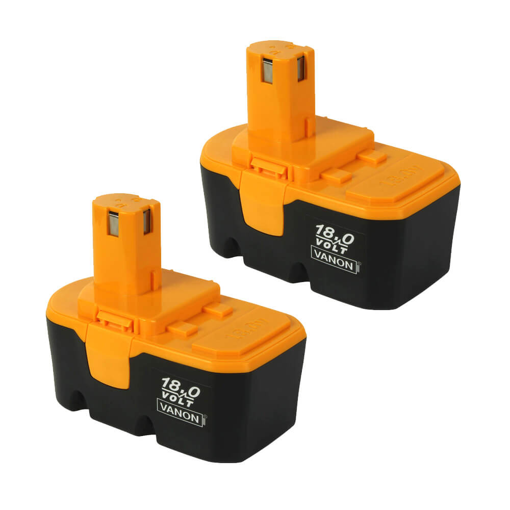 2 Pack For 18V Ryobi Battery Replacement | P100 3600mAh Ni-MH Battery
