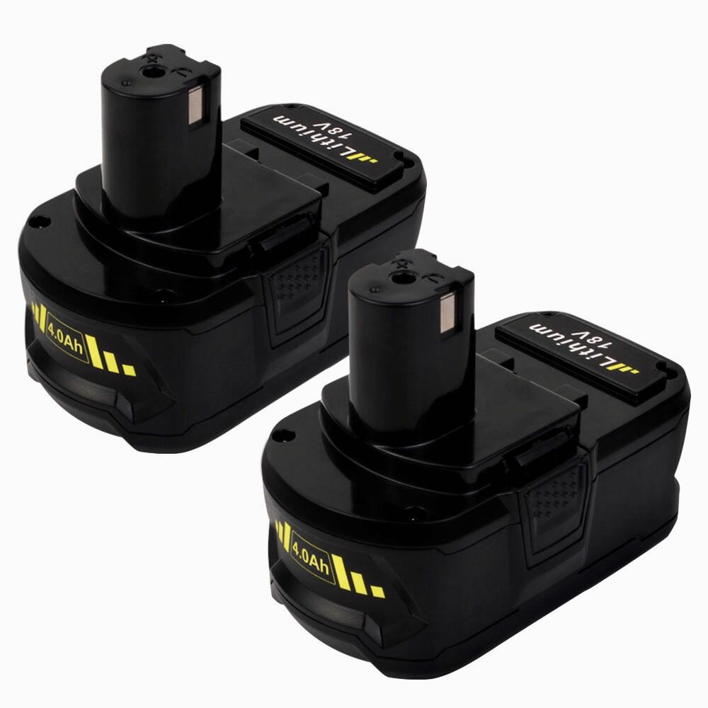 2 Pack For 18V Ryobi Battery Replacement | 130429054 P104 4000mAh Li-ion Battery