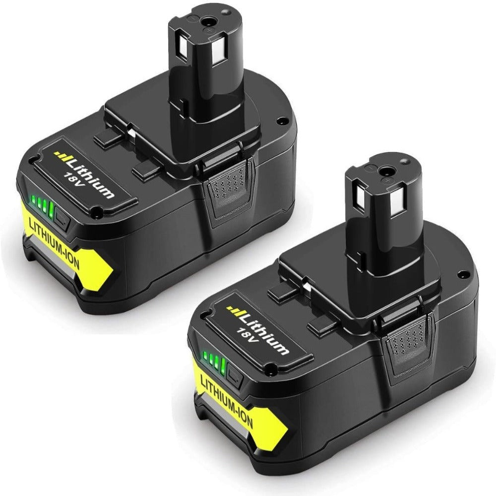 2 Pack For 18V Ryobi Battery Replacement | P108 5.0Ah Li-ion Battery