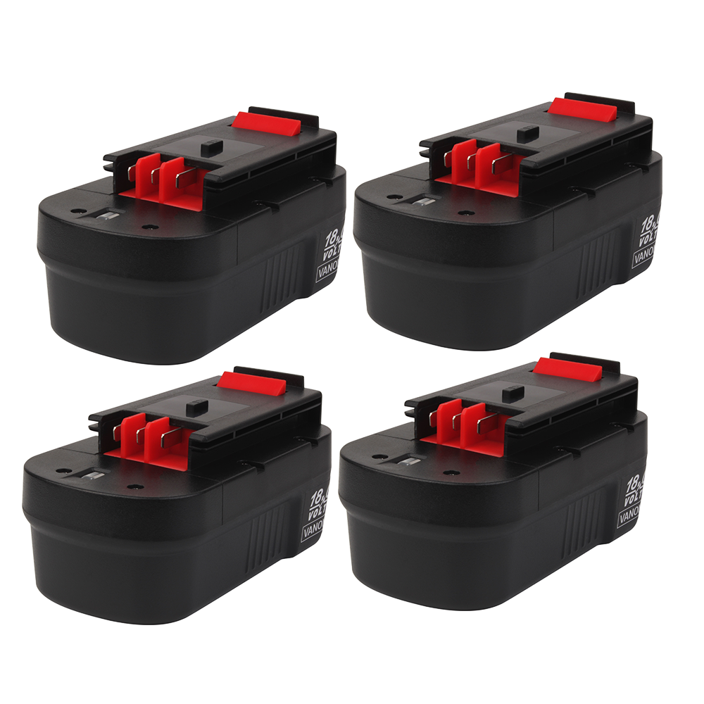Black and Decker 18V | Black and Decker Battery Replacement | HPB18 3.6Ah Battery 4 Pack | front