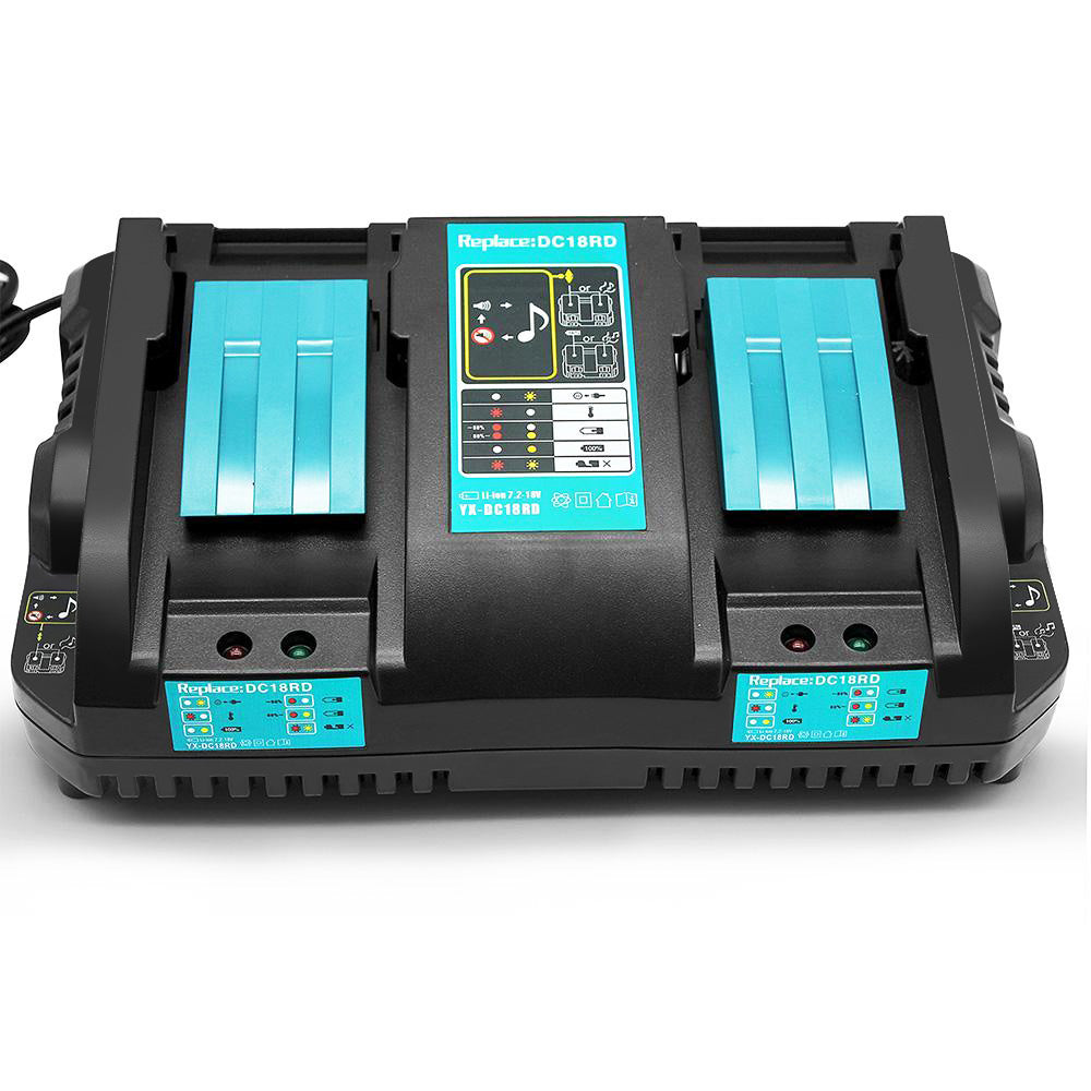 For Makita 18V DC18RD Rapid Charger | Dual Port Lithium-Ion Battery Charger