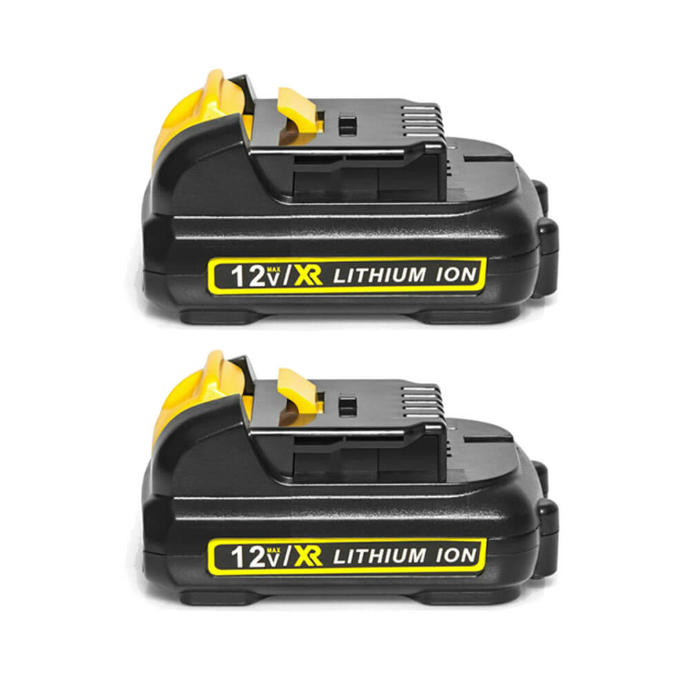 2 Pack For 12V Dewalt Battery Replacement | DCB120 5000mAh Li-ion Battery
