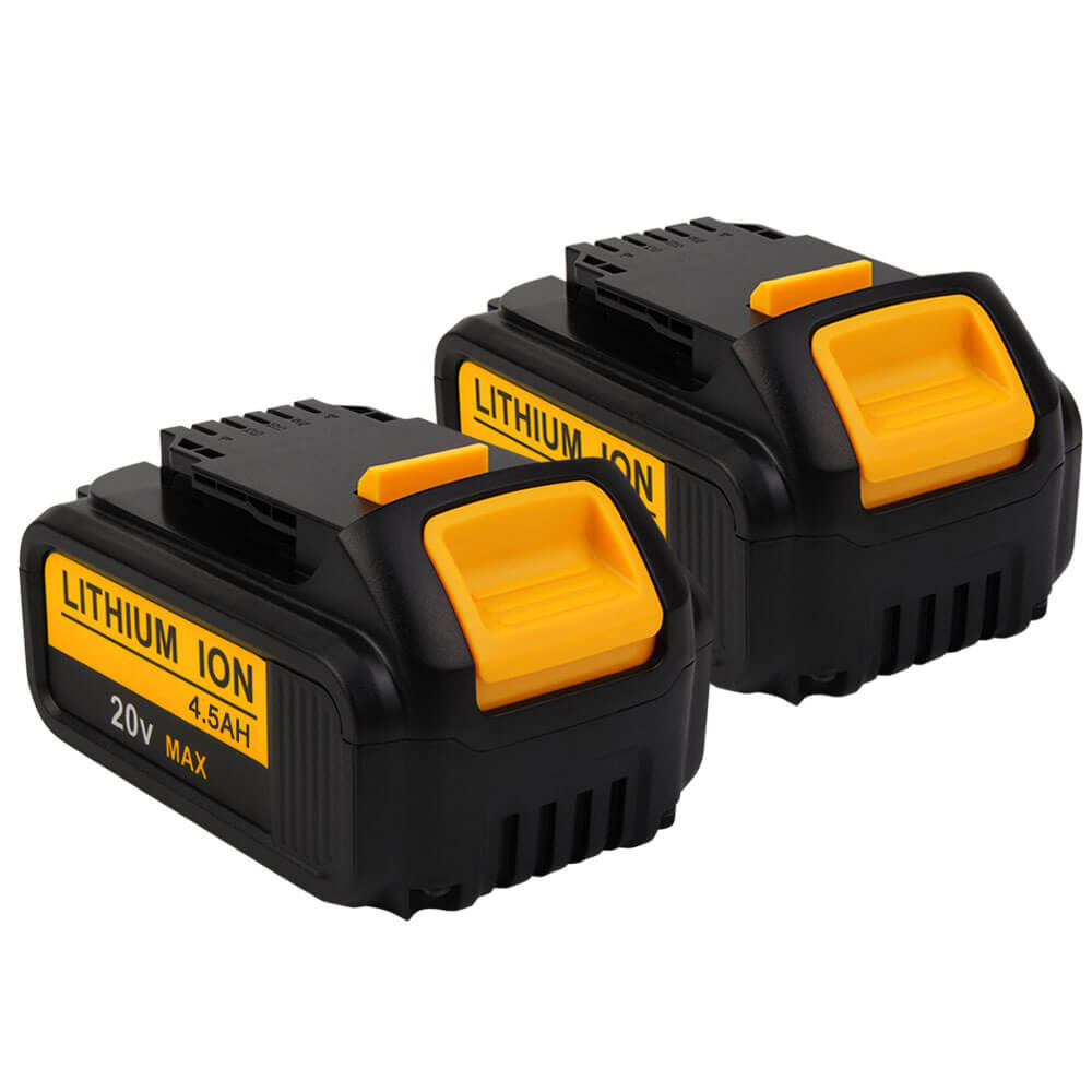 2 Pack For 20V Dewalt Battery Replacement | DCB200 4500mAh Li-ion Battery