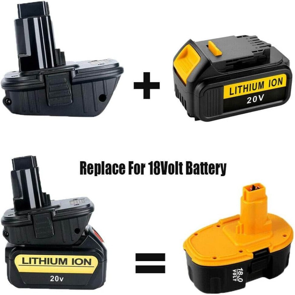 2 Pack For Dewalt 18V to 20V Adapter | DCA1820 Battery Converter