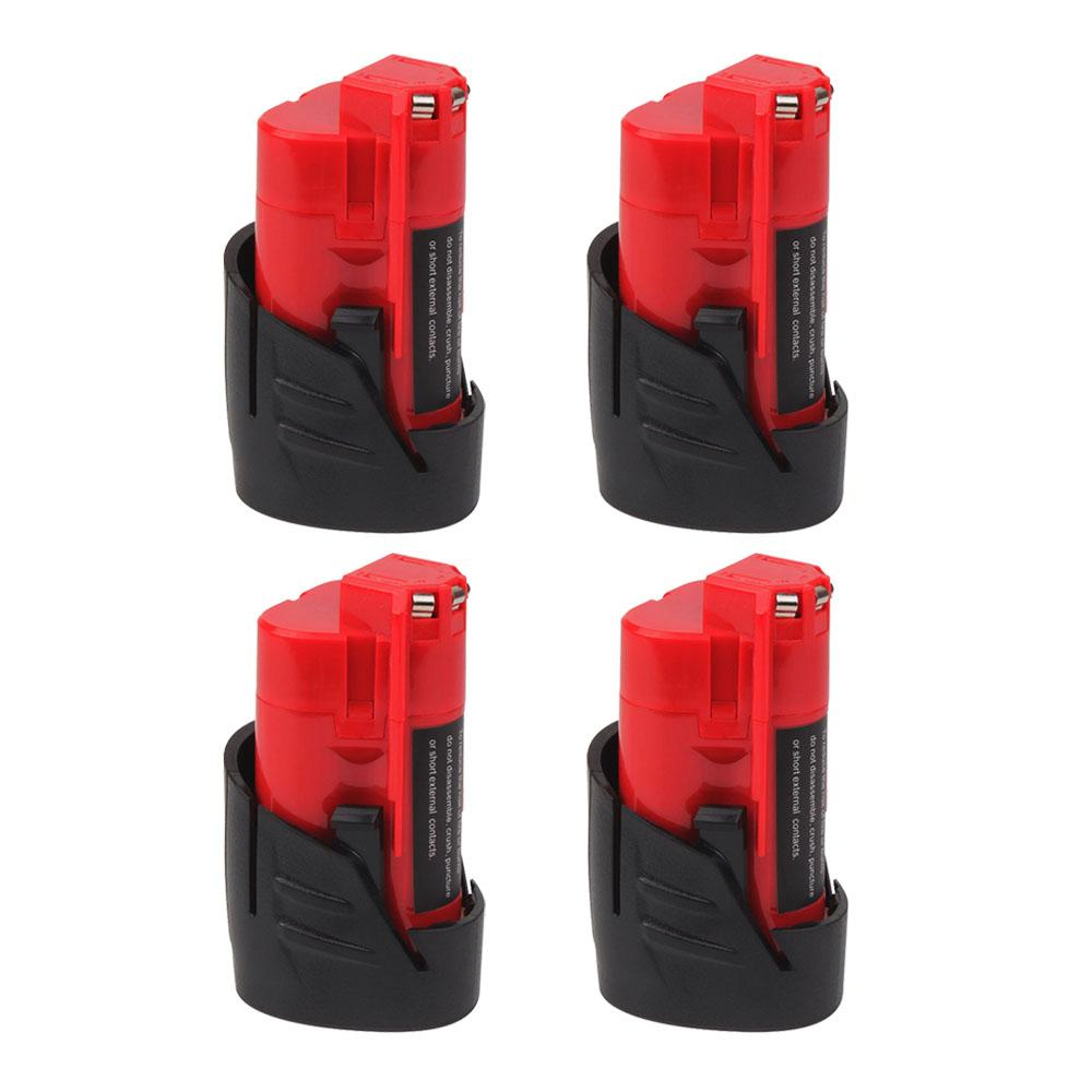 4 Pack For Milwaukee Battery 12V 3.5Ah Replacement | 48-11-2411 48-11-2440 48-11-2402 Batteries