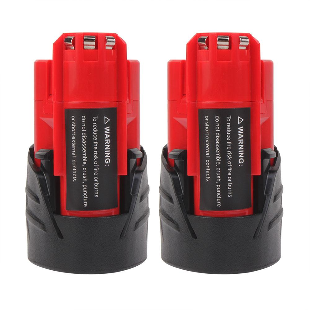 Milwaukee Battery | 12V 3.5Ah | Milwaukee Battery 12V 3.5Ah Replacement | 48-11-2411 48-11-2440 48-11-2402 Batteries | two