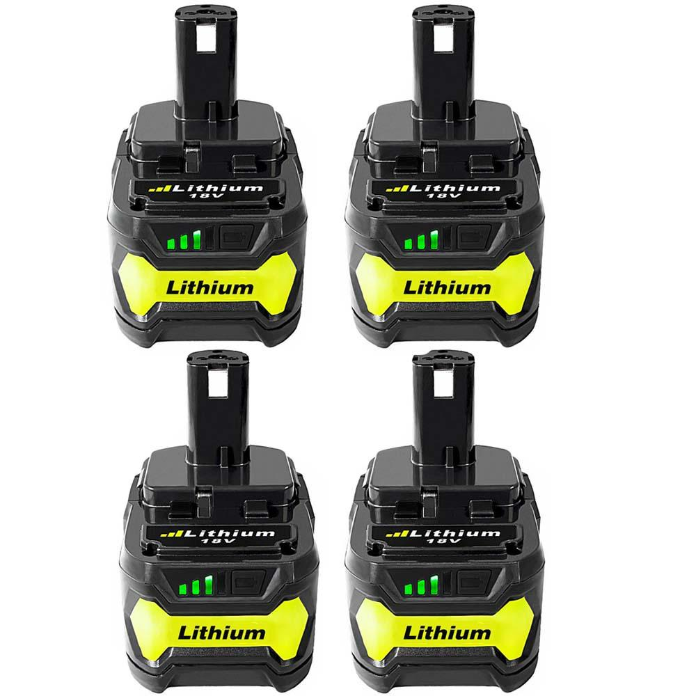 For Ryobi 18V P104 ONE PLUS Battery | 4.0Ah Li-ion Battery Replacement | 4 Pack