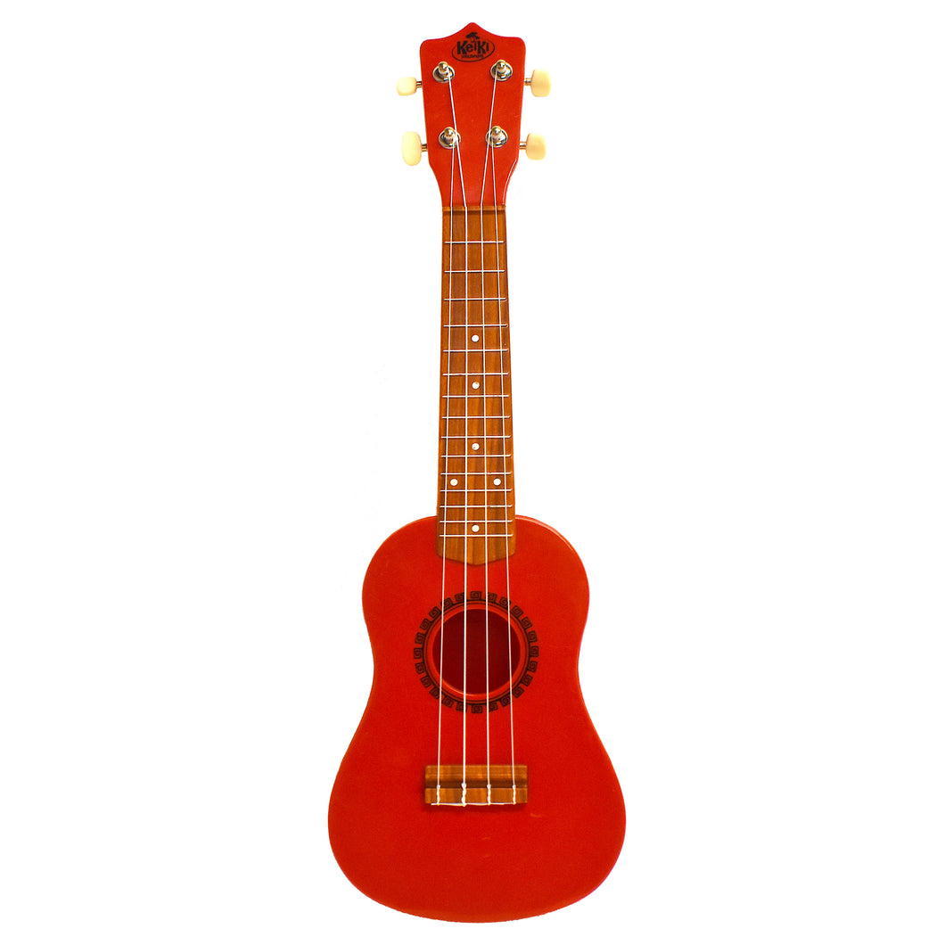 KeiKi Ukulele in Sunset Red