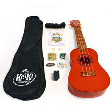 Load image into Gallery viewer, KeiKi Ukulele in Sunset Red