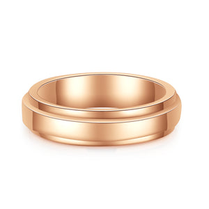 10K Rose Gold Eternity Plain Ring 10K金Eternity戒指 (10KR010)