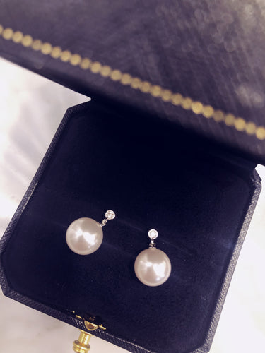 Swarovski Pearl Earrings 閃石珍珠耳環 (SWPE024)