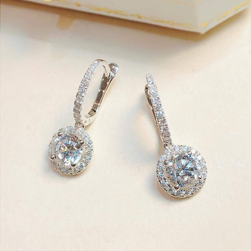 Sleeper Halo Setting Earrings (JE015)
