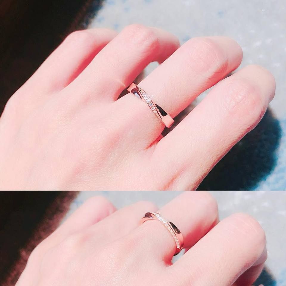 10K Rose Gold Infinity Pave Ring 10K金Infinity碎鑽戒指 (10KR011)