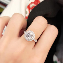 Load image into Gallery viewer, Double Halo Setting Solitaire Ring 雙光環戒指 (JR030)