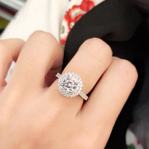 Double Halo Setting Solitaire Ring 雙光環戒指 (JR030)