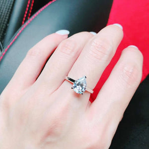 Pear Cut Solitaire Ring 梨形戒指 (JR050)