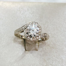 Load image into Gallery viewer, Round Pave Twisted Solitaire Ring (JR059)