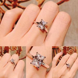 Radiant Cut Solitaire Ring 君主方石戒指 (JR057)