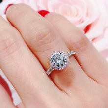 Load image into Gallery viewer, Pink Halo Setting Solitaire Ring 粉紅光環碎鑽戒指 (JR034)