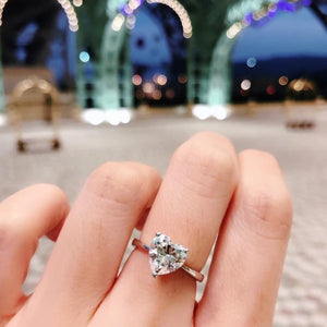 Heart Cut Solitaire Ring 心形戒指 (JR038)