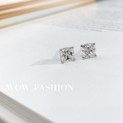 Cushion Cut Earrings (JE006)