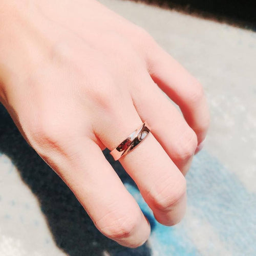 10K Rose Gold Infinity Plain Ring 10K金Infinity戒指 (10KR012)