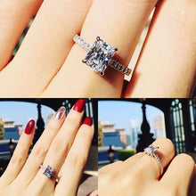 Load image into Gallery viewer, Radiant Cut Pave Solitaire Ring 君主方石碎鑽戒指 (JR056)