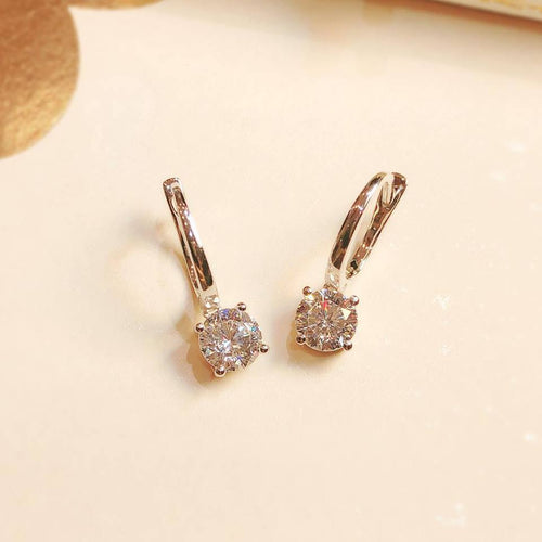 Classic Round Cut 4 Claws Earrings (JE004)