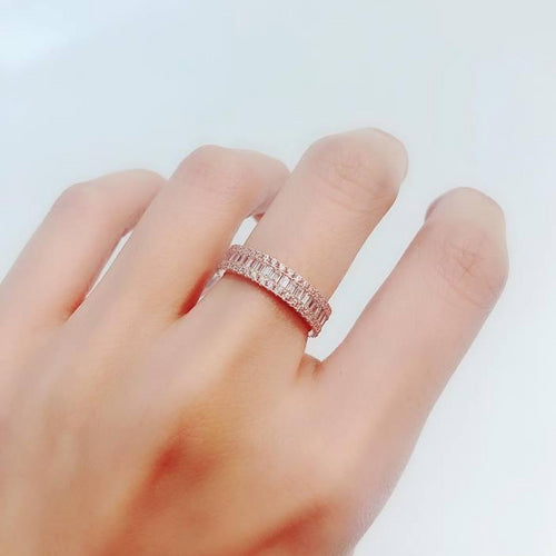 10K Rose Gold Victoria Rings 10K金Victoria碎鑽戒指 (10KR017)
