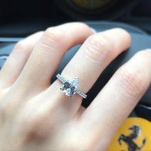 Load image into Gallery viewer, Pear Cut Pave Solitaire Ring 梨形碎鑽戒指 (JR049)