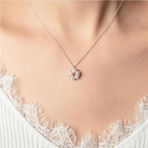 Swarovski Pearl Necklace 碎石冬甩珍珠頸鏈 (SWPN001)
