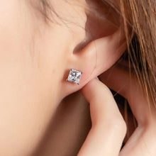 Load image into Gallery viewer, Princess Cut Earrings (JE013)