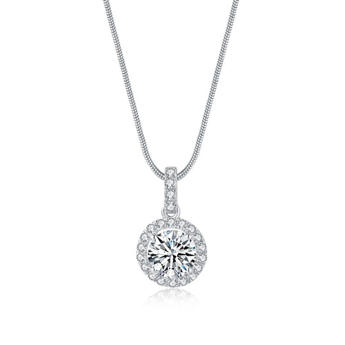 Audrey Halo Setting Jewelry Necklace 經典光環吊墜頸鏈 (JN011)