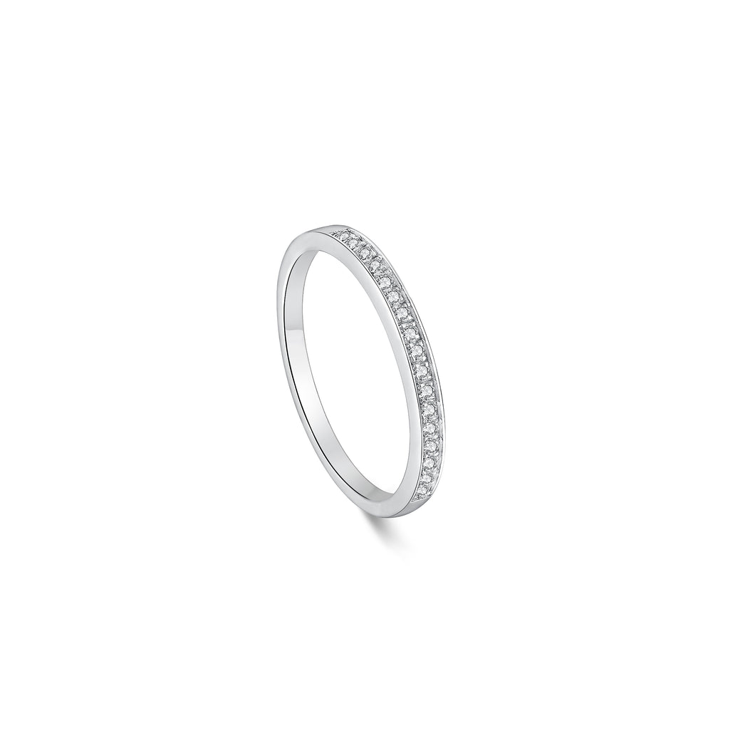 1.7mm Classic Half Round Invisible Ring 壁鑲半圈戒指 (JR005)