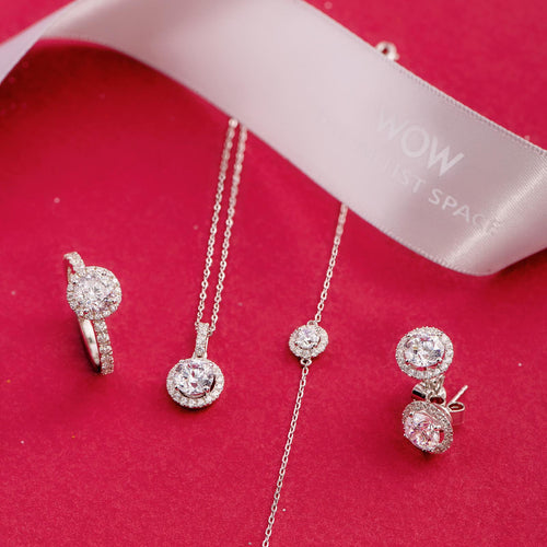 Audrey Classic HALO SET (RING, EARRING, NECKLACE & BRACELET)