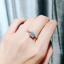 Load image into Gallery viewer, 10K Rose Gold Princess Cut Solitaire Ring 10K金公主方石戒指 (10KR015)