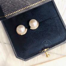 Load image into Gallery viewer, 10K Gold Fresh Water Pearl Earring -10K真金淡水珍珠耳環 (10KPE002)