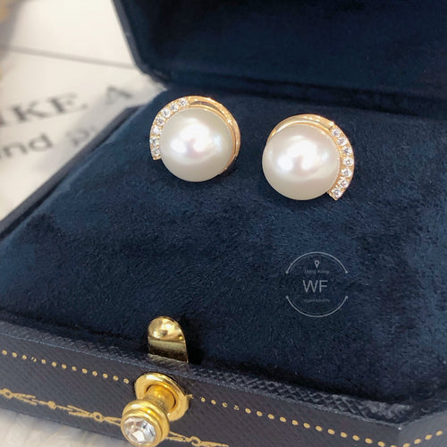 10K Gold Fresh Water Pearl Earring -10K真金淡水珍珠耳環 (10KPE002)