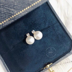 10K Gold Fresh Water Pearl Earring -10K真金淡水珍珠耳環 (10KPE003)