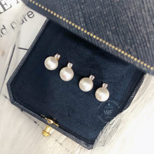 Load image into Gallery viewer, 10K Gold Fresh Water Pearl Earring -10K真金淡水珍珠耳環 (10KPE003)