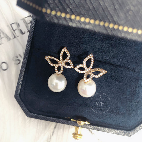 10K Gold Fresh Water Pearl Earring -10K真金淡水珍珠耳環 (10KPE004)