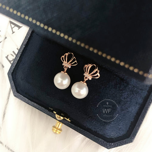 10K Gold Fresh Water Pearl Earring -10K真金淡水珍珠耳環 (10KPE001)
