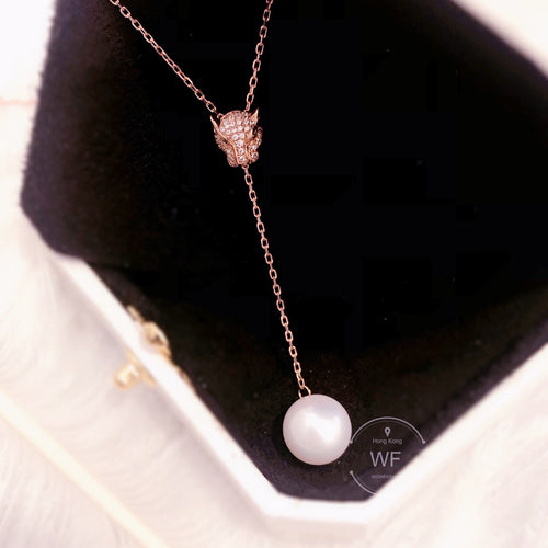 10K Gold Fresh Water Pearl Necklace -10K真金淡水珍珠項鍊 (10KPN001)