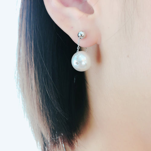 Swarovski Pearl Earrings 銀珠吊珍珠耳環 (SWPE004)