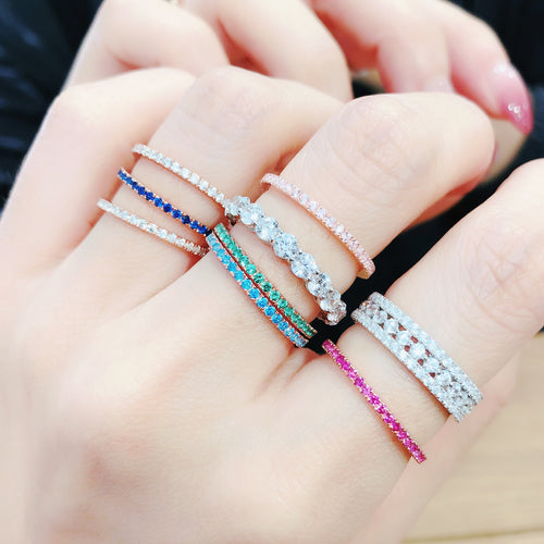 1.3mm Colour Full Round Ring 全圈彩鑽戒指 (JR004)