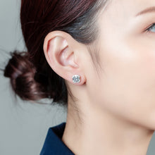 Load image into Gallery viewer, Asscher Halo Earrings (JE016)
