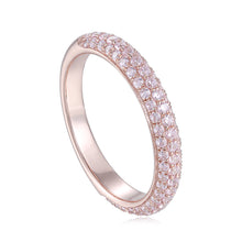 Load image into Gallery viewer, Isabelle Triple Row 2/3 Round Rose Gold Ring 三行排鑽2/3圈玫瑰金戒指 (JR063)