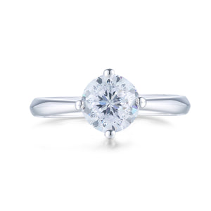 Classic 4 Prong Solitaire Ring 經典四爪十字托戒指 (JR018)
