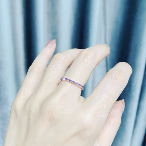 1.3mm Colour Full Round Ring 全圈彩鑽戒指 (JR004b)
