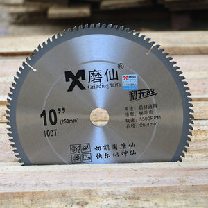 Electric circular saw 10 inch saw blade hard alloy circular 250MM wood material cutting sheet tungsten steel cutting machine saw - Dashing Blade